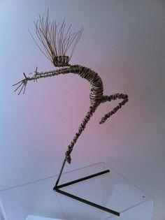 Rachel Ducker | Rachel Ducker Wire Sculpture Fantasy Wire, Sculpture Art, Wire Sculptures, Wire Ornaments, Beginner Art, Scrap Metal Art, Iron Art, Wire Crafts, Patterns In Nature