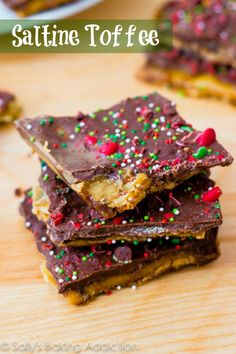Christmas Crack - easy toffee made from saltine crackers. This stuff is so good!  sallysbakingaddiction.com