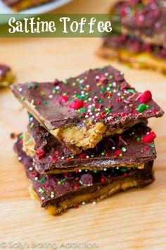 Chocolate Peanut Butter Saltine Toffee