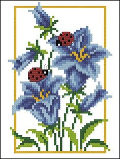 Фотография Cross Stitch Borders, Cross Stitch Rose, Cross Stitch Flowers, Cross Stitching, Cross Stitch Embroidery, Hand Embroidery, Cross Stitch Patterns, Knitting Patterns, Welcome Flowers