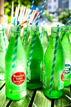Mountain Valley Spring Water is what we drink. They deliver it in 5 gallon glass jars. We also order their sparkling water in these bottle sizes. Green Life, Go Green, Green Colors, Fresh Green, Spa Water, Bottles And Jars, Glass Jars, Spring Water, Vintage Bottles