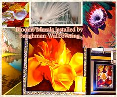 Painted on canvas or printed graphic murals can bring the inside a whole new blooming life . Add some life to surroundings by bringing outdoor blooms to the interior. Walls and ceilings will get a whole new look in unexpected pops of color, texture and flora. To get a mural installed or see more installs by Baughman Wallcovering: http://baughmanwallcovering.com/contact-us.html, http://www.baughmanwallcovering.com/murals.html, and https://www.pinterest.com/baughmanwallcov/.