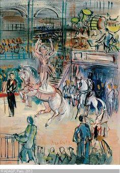DUFY Jean, 1888-1964 (France) Title : L'écuyère à panneaux au cirque Medrano  Date : ca 1932/1935