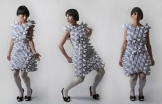 Plato's collection - Math-Inspired Origami Dresses From Paper and Textiles by Amila Hrustic | strictlypaper