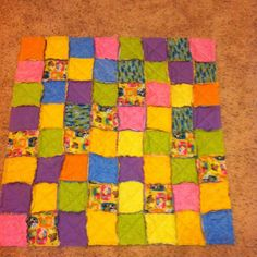 Rag quilt for play time.