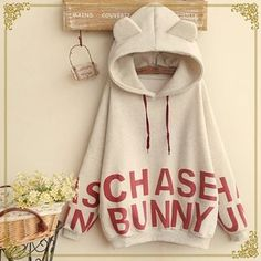 Buy Fairyland Lettering Ear Accent Hooded Pullover at YesStyle.com! Quality products at remarkable prices. FREE WORLDWIDE SHIPPING on orders over US$ 35.