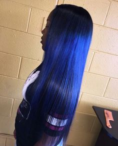 Blue Wigs Lace Frontal Hair Layered Haircuts With Bangs Mintop Damaged Hair Frontal Hairstyles, Weave Hairstyles, Protective Hairstyles, Love Hair, Gorgeous Hair, Pretty Hair, Curly Hair Styles, Natural Hair Styles, Layered Haircuts With Bangs