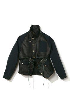 Kenzo Raffia Convertible Jacket