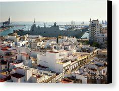 Cadiz Spain, Canvas Art, Canvas Prints, Paris Skyline, Times Square, Spanish, Ship, Navy, Travel