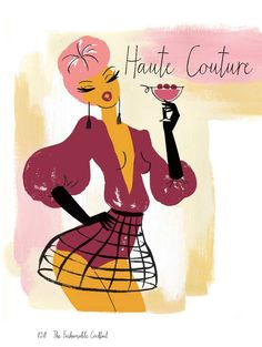 Haute Couture by Neryl Walker. Illustration from the Fashionable Cocktail book.