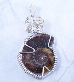 Ammonite in Sterling Pendant от LadySnooks на Etsy