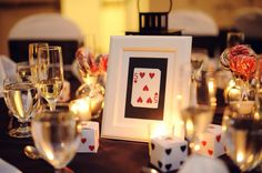 Casino theme wedding reception