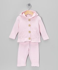 Look what I found on #zulily! Tots Fifth Avenue Pink Knit Cardigan & Pants - Infant by Tots Fifth Avenue #zulilyfinds