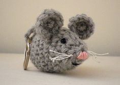 Ravelry: Nesta the Mouse key chain pattern by Christina Eady