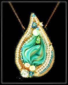 Nashira Shibori Silk Bead Embroidery por LaBottegucciaDiManu