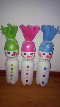 Cheap and Easy Christmas Crafts for Kids to Make at Preschool – Snowmen Fun Christmas Activities, Christmas Crafts For Kids To Make, Simple Christmas, Christmas Projects, Kids Christmas, Snow Crafts, Recycled Crafts Kids, Reindeer Craft, Plastic Bottle Crafts