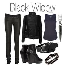 Black Widow inspired outfit (I want that jacket!)
