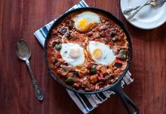Shashuka is a deliciously healthy one pot dish you can eat any time of day!   @cookiedesire