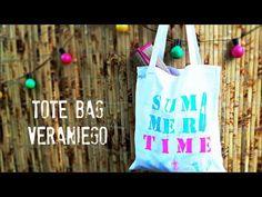 Manualidades y tendencias: Tote bag playero personalizado www.manualidadesytendencias.com #manualidades #bolsos #craft #pintura #textil #fabric #paint #summer #verano #diy #stencil #plantilla