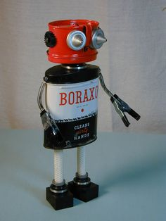 BORAXO Found Object Robot Sculpture Assemblage from NutzenBoltsWorks