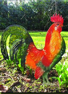 ... Tier Skulptur / Kunstvoll Bunt Bemalt / Beidseitiges Motiv /schweres  Hochwertiges Material Aus Metall / Außergewöhnliche Gartendekoration /  Wunderschöne ...