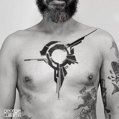 Cybernetic Blackwork Tattoos by Georgie Williams   Tattoodo