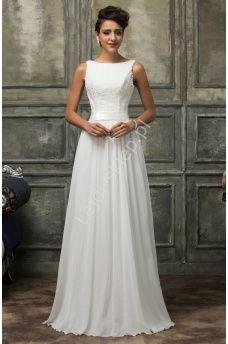 Znalezione obrazy dla zapytania prosta suknia ślubna