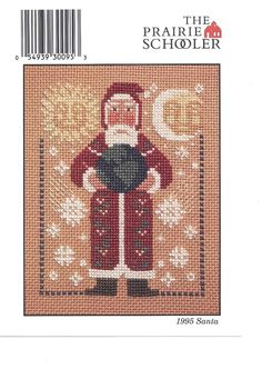 Partridge Pear Tree Father Christmas Santa Claus 758 Countd Cross Stitch Pattern