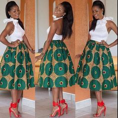 Jupe africaine tissu africain jupe Ankara jupe imprimé par TrueFond