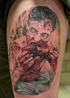 55 Fotos de tatuagens de zumbis dos filmes de terror | Tinta na Pele