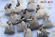 Sacchettini portaconfetti in lino
