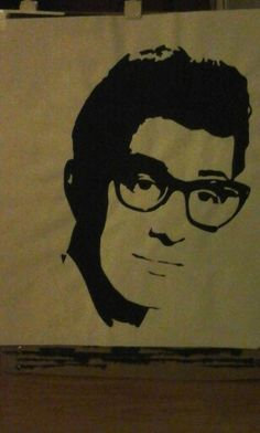 Buddy holly / painting by Roy
