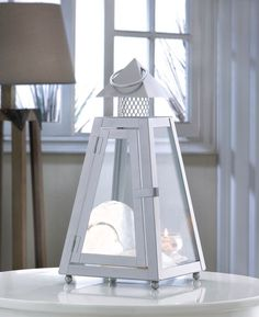 4 CONTEMPORARY LARGE GRAY SUMMIT CANDLE LANTERN WEDDING CENTERPIECES~10015967