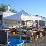 Vendors have been setting up since October to sell items they have brought from all over the U.S.  We will have 1000's of vendors set up before the season is done next spring.