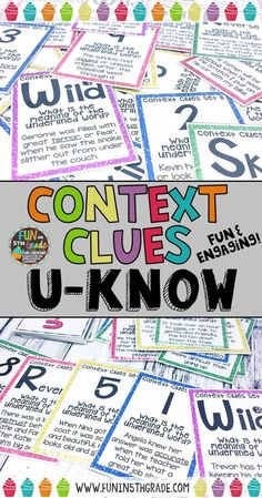 Practice context clues with this card game and your students will be begging for more!  Great for grades 4-6.