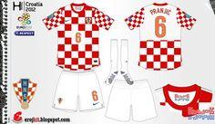 Croatia home kit for Euro 2012.