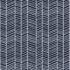 Navy Herringbone Fabric by the Yard | Carousel Designs.  This fabric features a modern geometric design in the perfect shade of navy blue and white. It goes great with almost any color and is printed on a soft 100% quilting weight cotton.