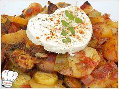 Ενα πιατο που κλεινει μεσα του την φρεσκαδα του καλοκαιριου και των λαχανικων της εποχης. Ενα πιατο απλο μα τοσο πεντανοστιμο.  <strong>Απολαυστε το!!!</strong> Briam, Greek Recipes, Camembert Cheese, Potato Salad, Potatoes, Cooking Recipes, Vegetarian, Eat, Ethnic Recipes
