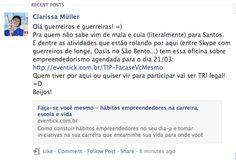 TIP da Clarissa Muller em Santos