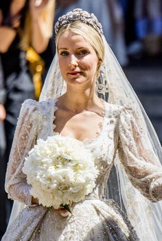 Ekaterina Malysheva, the newly-wed Hereditary Princess of Hanover, during her wedding with Hereditary Prince Ernst August of Hanover, Duke of Brunswick-Lueneburg, at Hanover Market Church on July 8, 2017 in Hanover, Germany.
