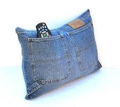 Resultado de imagem para capa almofada reaproveitar jeans