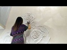 The creation of a bas-relief vine Plaster Art, Plaster Walls, Art Texture, Texture Painting, Sculpture Painting, Wall Sculptures, Wal Art, Art Decor, Decoration
