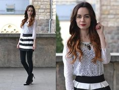 H&M Lace Top, Banggood Skirt, Nefryt Necklace