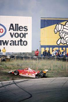 Gilles Villeneuve Ferrari 312T4 Grand Prix Dutch Zandvoort 1979