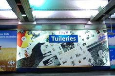 The Tuileries station's artwork represents many examples of century history and culture. Tuileries Paris, Metro Paris, Metro Station, Our Kids, Louvre, France, Mood, History, City