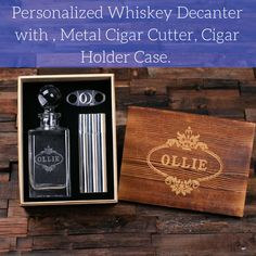 https://www.gentlemansmanifesto.com/collections/flasks/products/personalized-whiskey-decanter-with-round-bottle-lid-metal-cigar-cutter-cigar-holder-case-with-whiskey-flask-and-wood-box