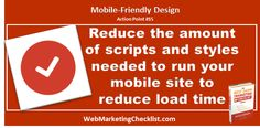 Don't have too many scripts and styles for your #mobile site.