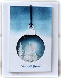 CAS-ual Fridays: Happy Hour for – Crafts Ideas Christmas Cards 2017, Create Christmas Cards, Christmas Scrapbook, Xmas Cards, Holiday Cards, 3d Cards, Folded Cards, Winter Karten, Shaker Cards