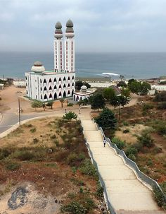 Quakam Mosque, (Senegal). Just around the corner from the neighborhood I lived in during the summer.
