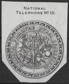 + Early Era England Scotland National Telephone Arms Crest Seal Letterhead